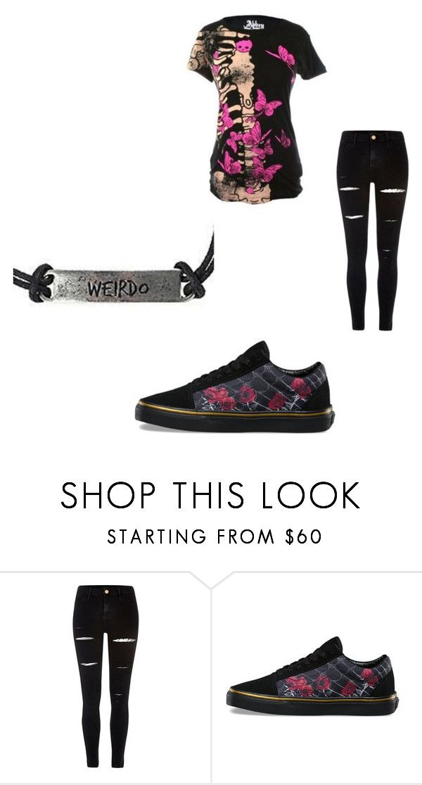 """""""Random School Outfit #2"""" by amber-caillouet ❤ liked on Polyvore featuring Abbey Dawn, River Island and Vans"""