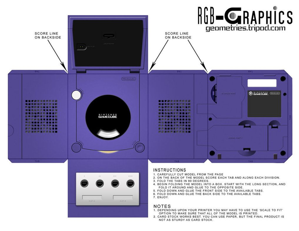 gamecube template game on pinterest paper models paper and