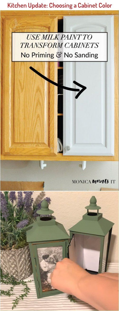This Diy Tutorial Teaches You How To Transform Kitchen Or Bathroom Cabinets With Milk Paint Which Requ In 2020 Updated Kitchen Cabinet Colors Diy Projects On A Budget