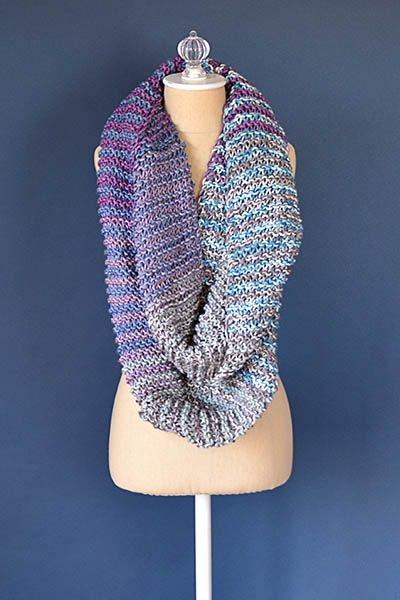 Squoosh Cowl Free Knitting Pattern Big Needle Knit Patterns And