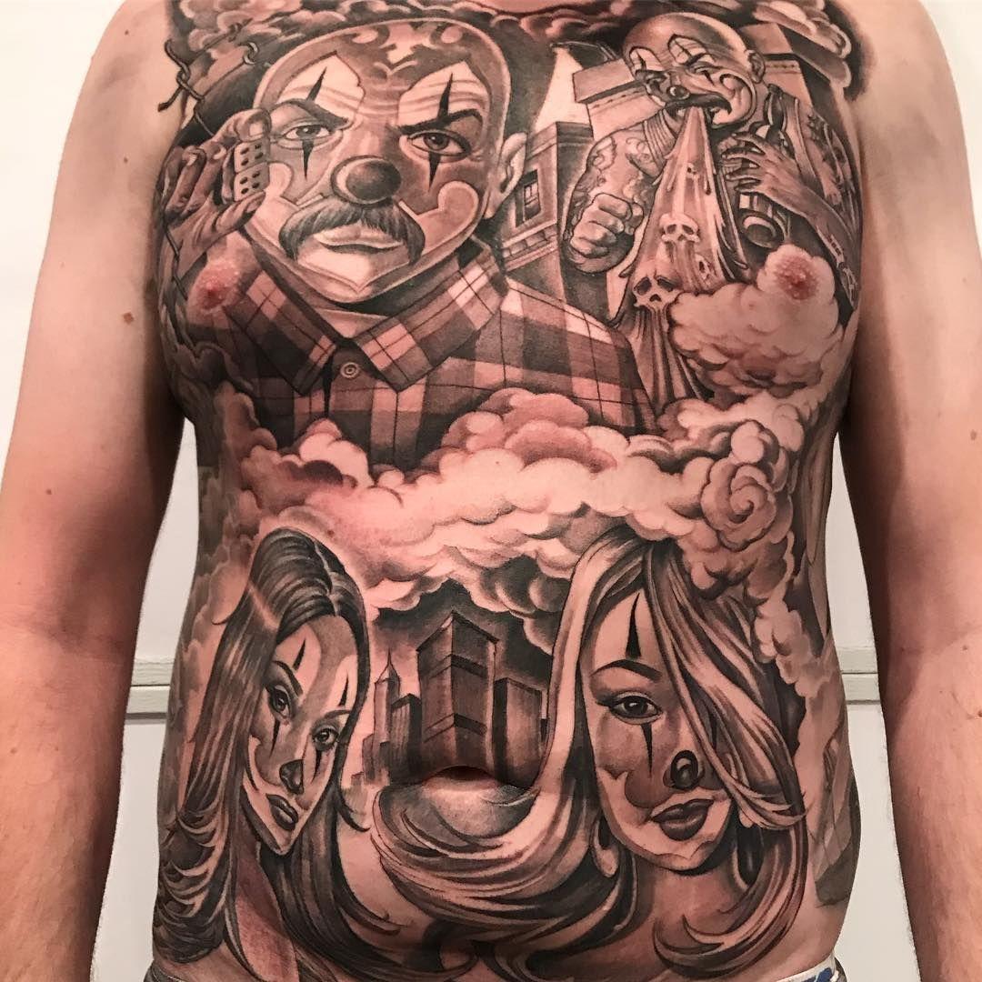 3 Days Back To Back To Back Mr Cartoon Tattoo Cartoon Tattoos Chicano Tattoos