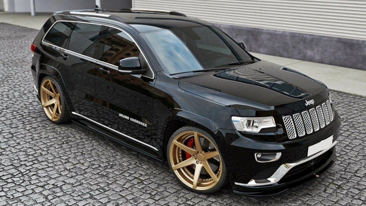 front splitter jeep grand cherokee wk2 summit facelift mds tuning jeep grand cherokee. Black Bedroom Furniture Sets. Home Design Ideas