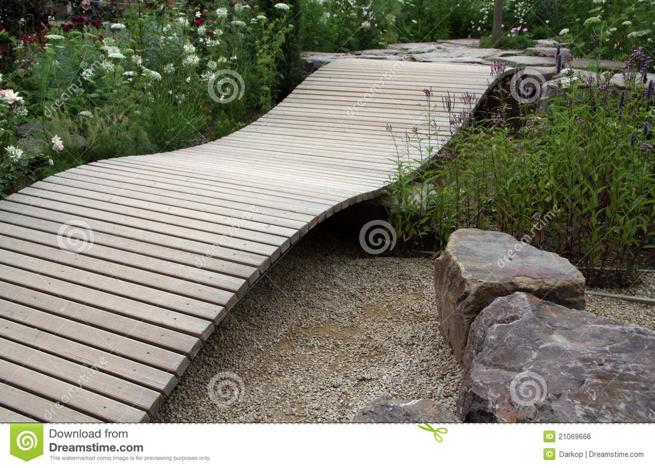 small ornamental garden bridge royalty free stock image image - Japanese Wooden Garden Bridge