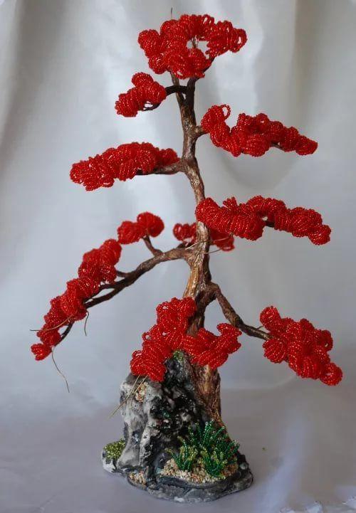 деревья из бисера мастер класс с пошаговым фото: 10 тыс ...