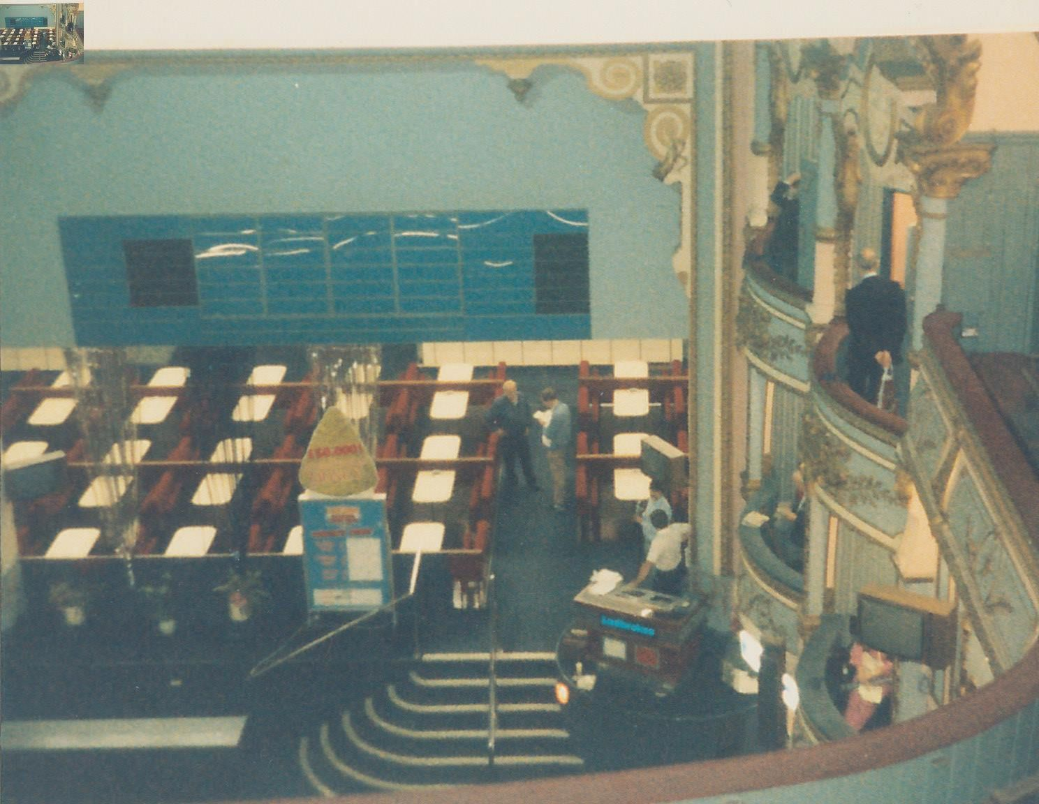 The interior of the Opera House when it was used for bingo, 1986.