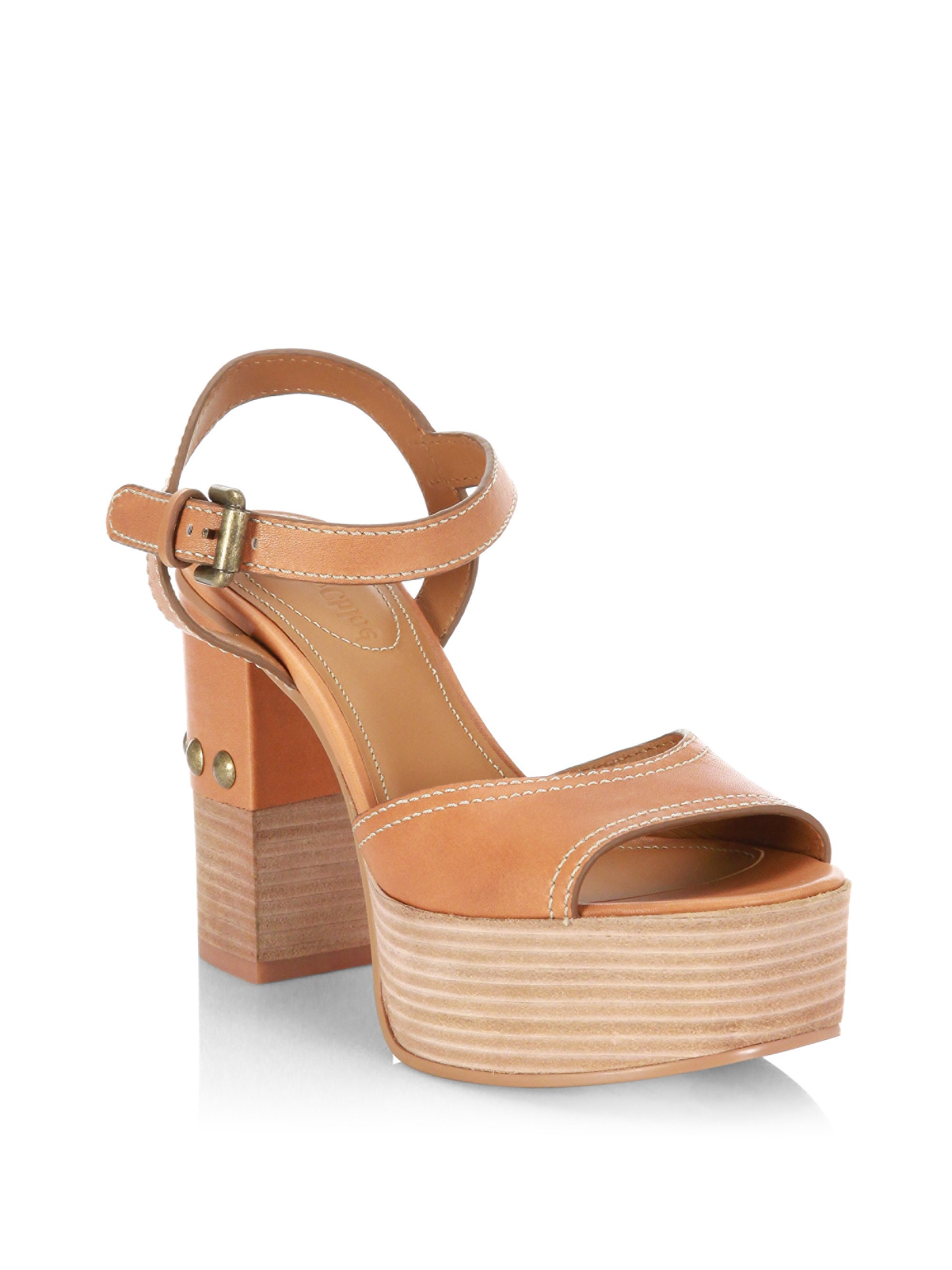 4e1546c50 Leather Platform Sandals by SEE BY CHLOÉ | Ladies Shoes!!!! | Shoes ...