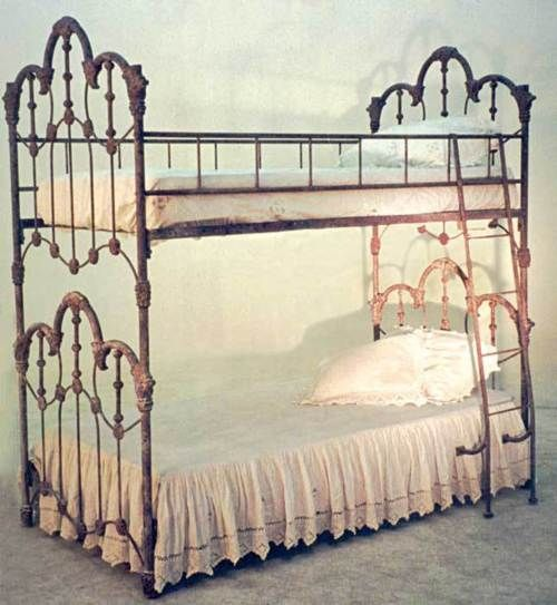 beautiful antique cast iron bunk beds
