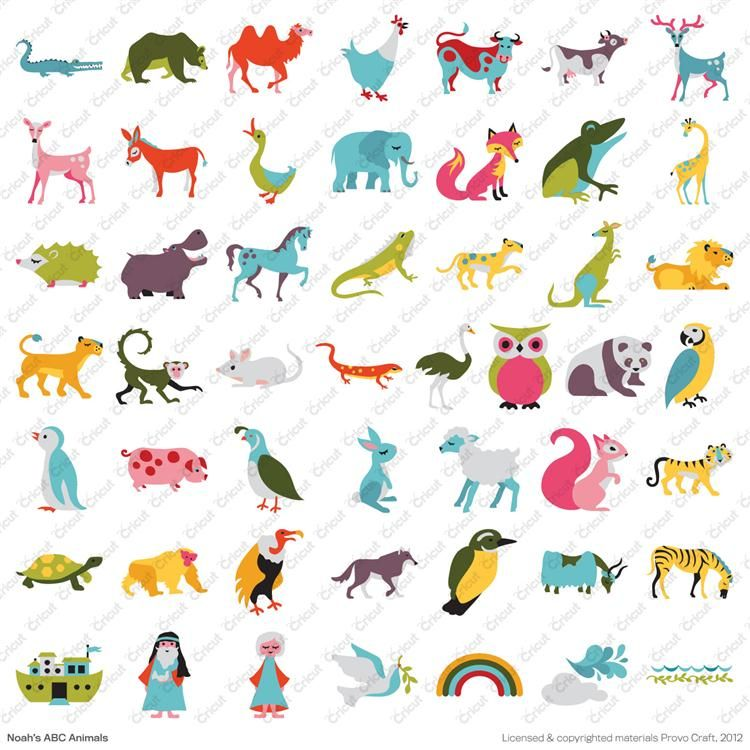 Cricut Noahs Abc Animals Cartridge Cricut Shop 2999 I Own This