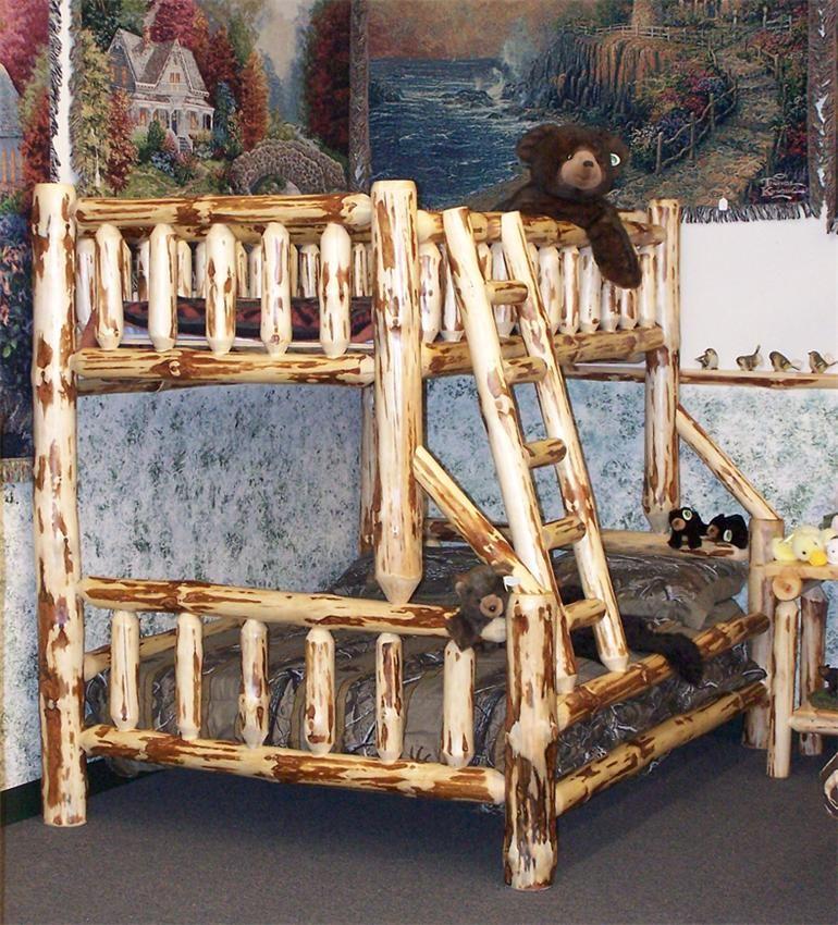 Amish Rustic Log Bunk Beds Log furniture, Rustic log