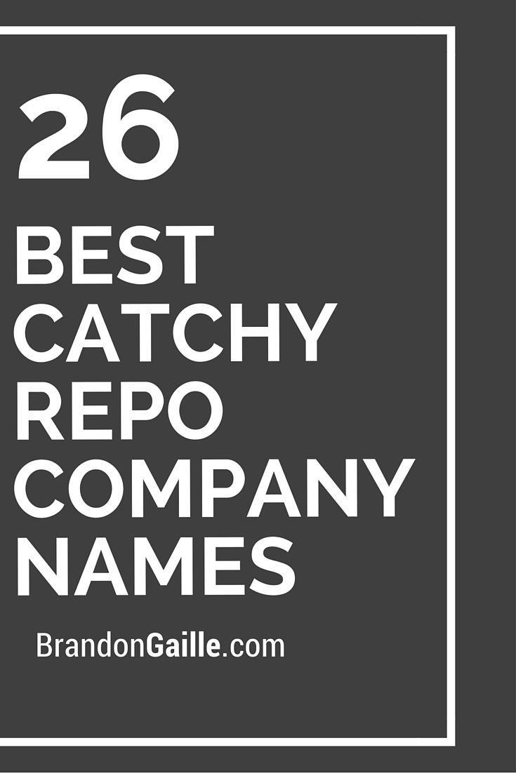 26 Best Catchy Repo Company Names