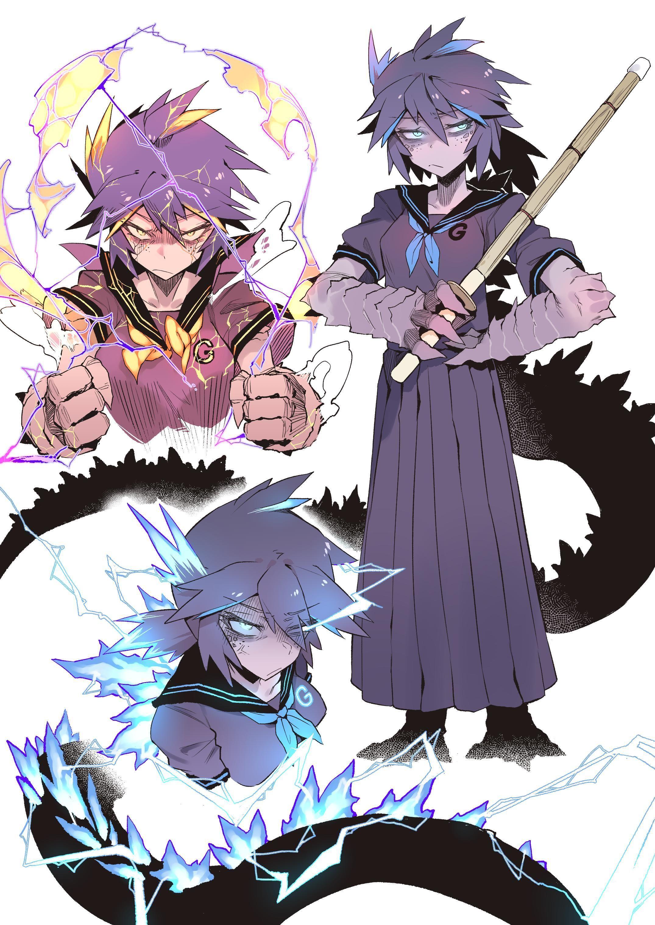 Monster girl godzilla anime monsters character art