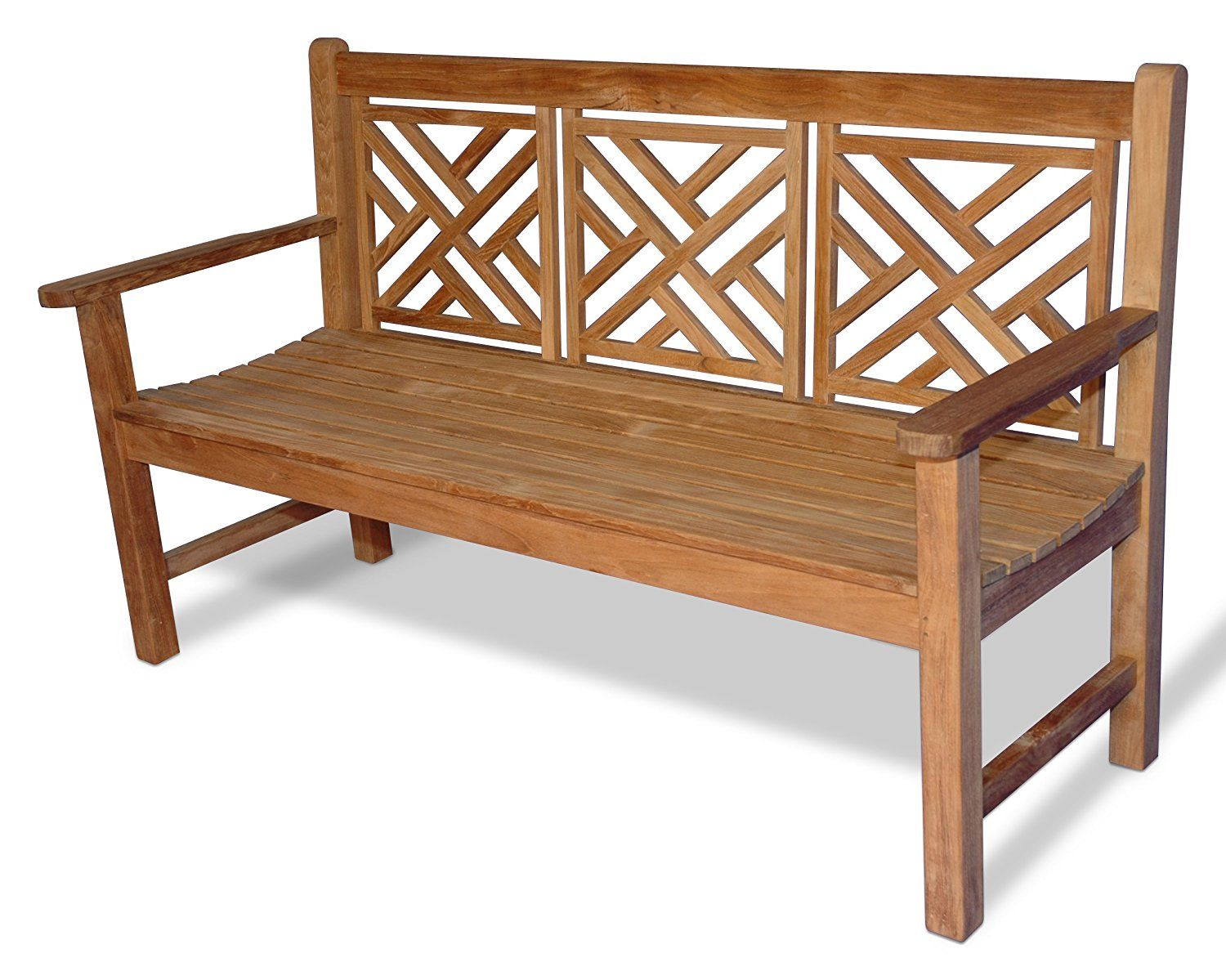 Amazon Com Teak Chippendale Bench 5 Ft Patio Gliders Patio