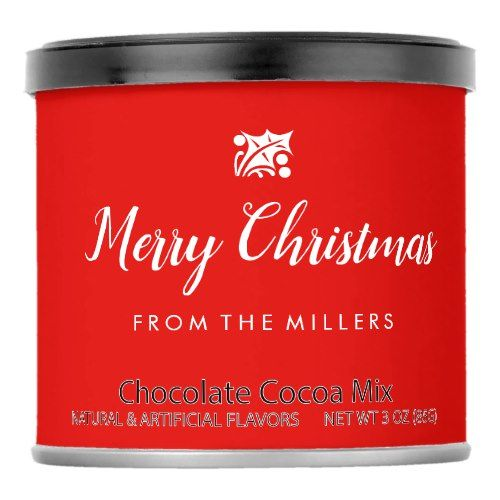 Merry Christmas Hot Chocolate Drink Mix    Merry Christmas Hot Chocolate Drink Mix