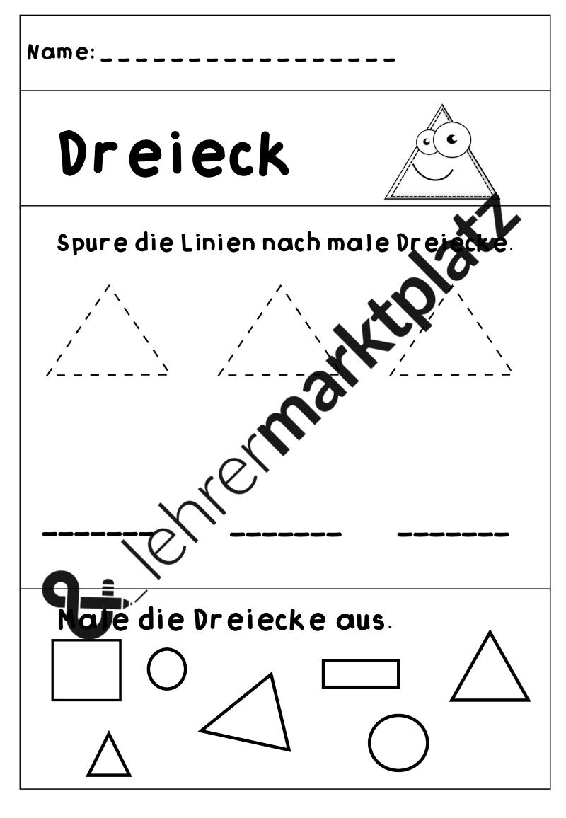 Formen - Arbeitsblätter und Poster – Mathematik | Mathe in der ...