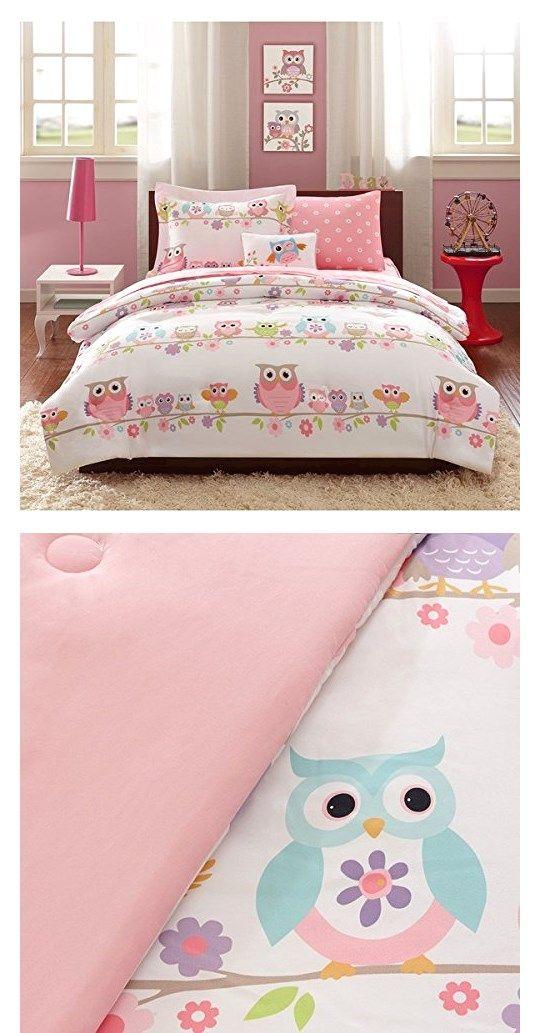 Mizone S 8 Piece Cute Fl Owl Bed In A Bag Comforter Set Kids Twin Bedding