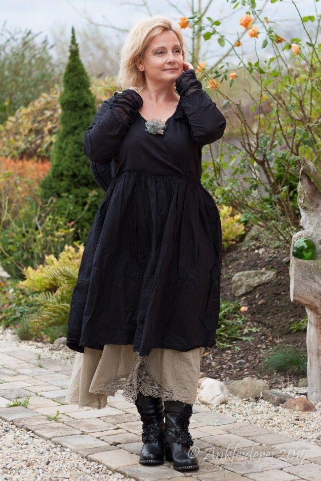 Ewa i Walla Kleid Cotton Black 55536 AW17 | französische Mode ...