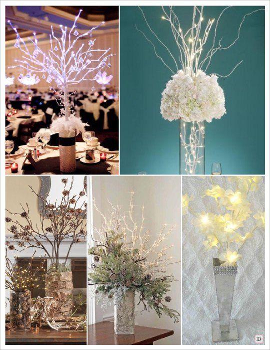 centre de table mariage branchage lumineux mariage rachou et beni pinterest centre de. Black Bedroom Furniture Sets. Home Design Ideas