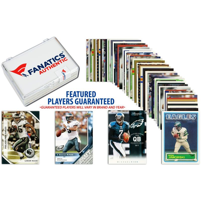 Philadelphia Eagles Team Trading Card Block/50 Card Lot