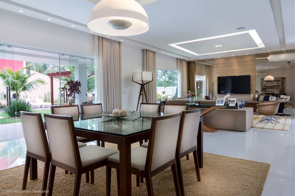Sala jantar salas de jantar por adriana leal interiores for Diseno de interiores sala de estar comedor