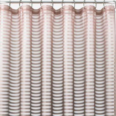 Royal VelvetR Shimmer Stripe Shower Curtain Found At JCPenney