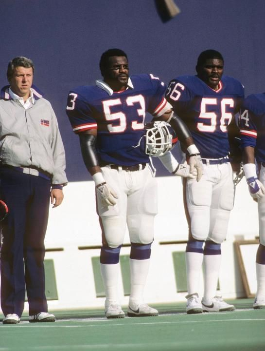 Bill Parcells Harry Carson Lawrence Taylor Giants Football