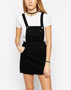 33288c489 black dungaree dress | Fashion and Beauty | Black dungaree dress ...