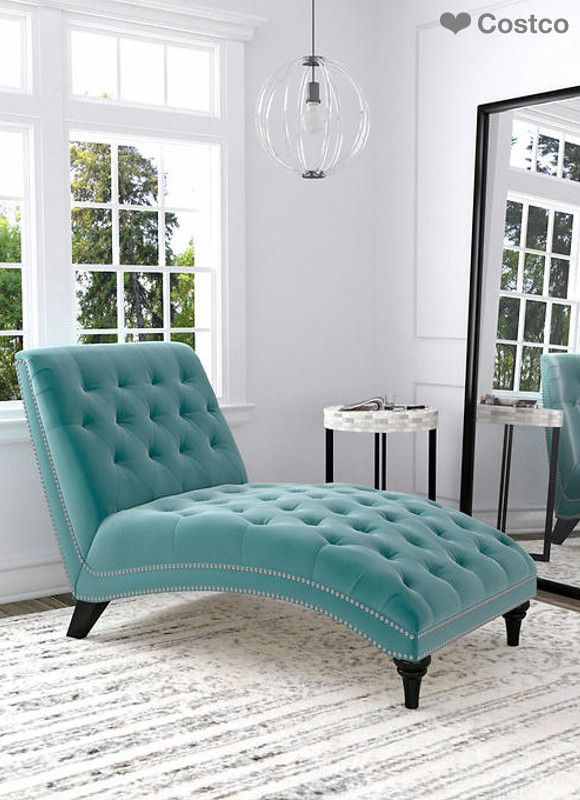 The Ursula Fabric Chaise Lounge features an inviting and elegant
