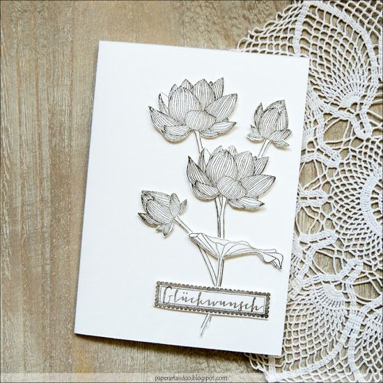 Paper, ART & Co.: Lotos Blumen | Monochrom