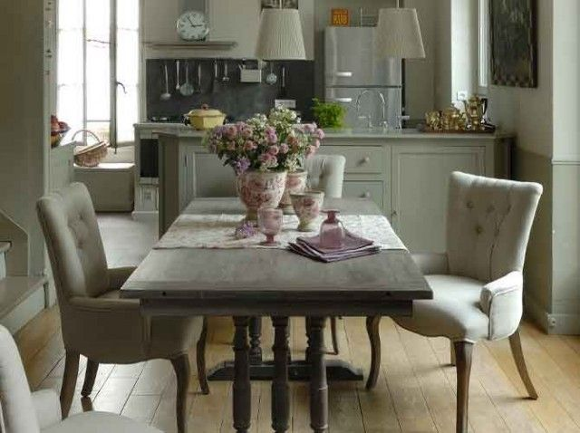 Beautiful dining room/kitchen - LOVE THE CHAIRS home stuff