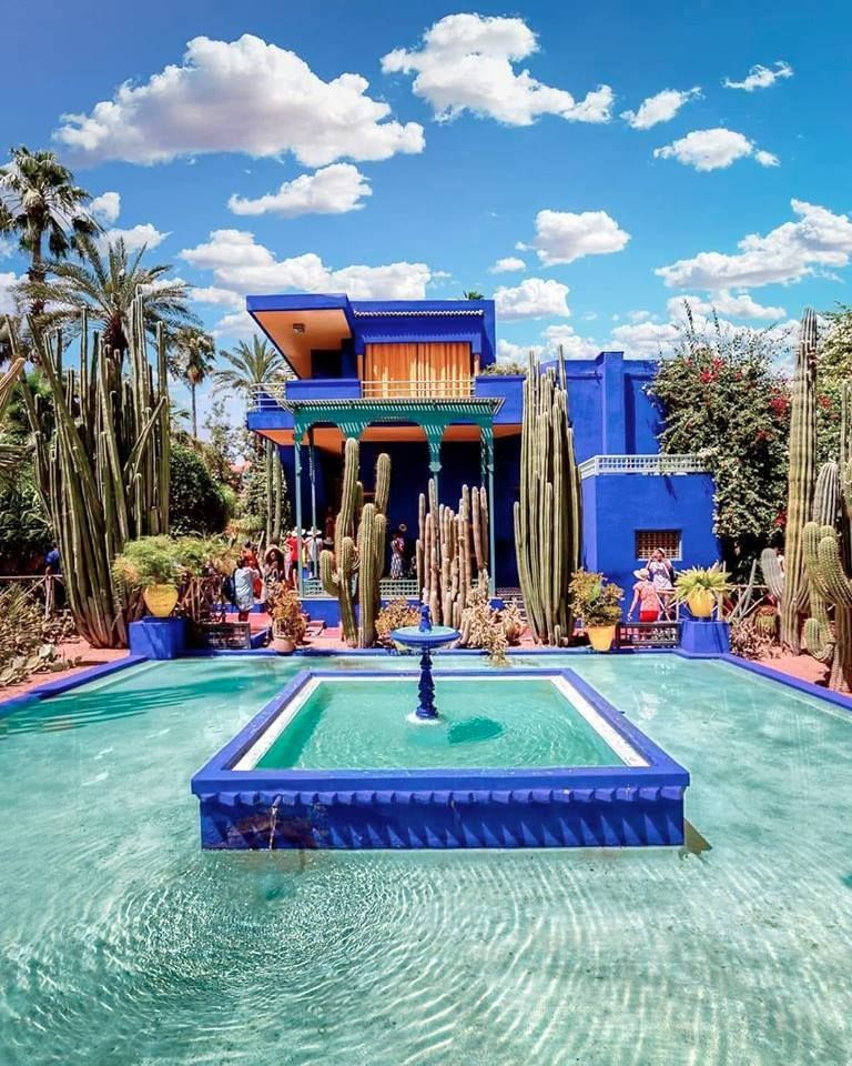 The Beautiful Jardin Majorelle Which Was Owned By Designer Yves