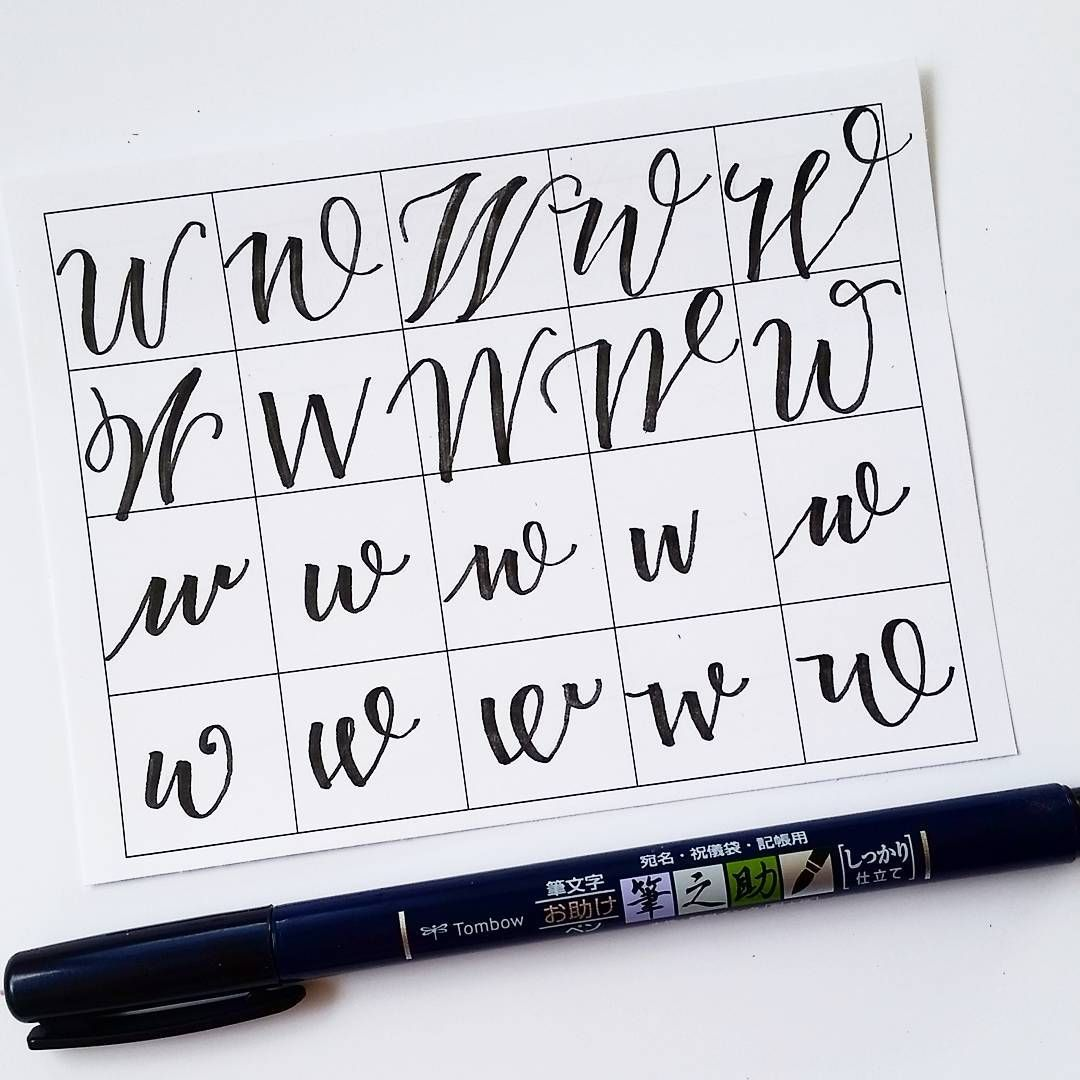 10 ways to write the letter W by @letteritwrite • see also the