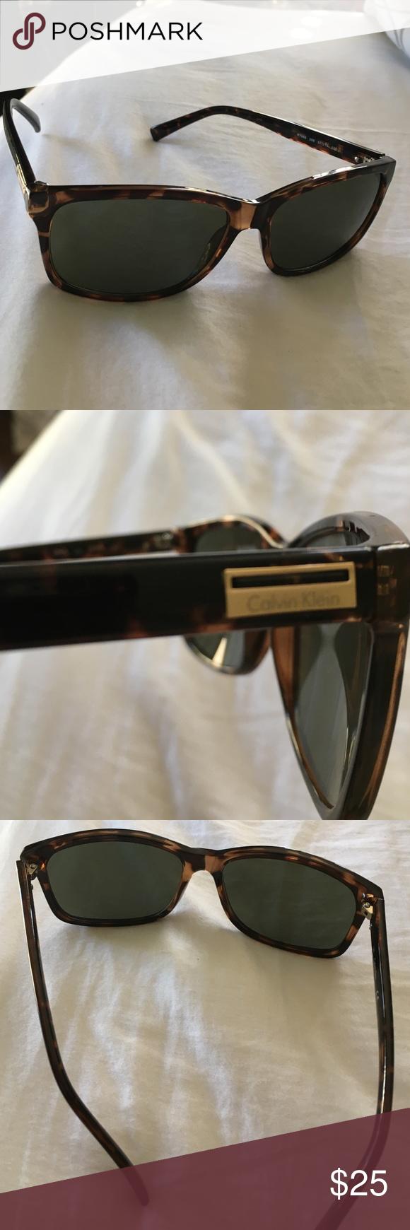 Calvin Klein sunglasses Tortoise shell Calvin Klein sunglasses. Never worn. Like new! Calvin Klein Accessories Sunglasses