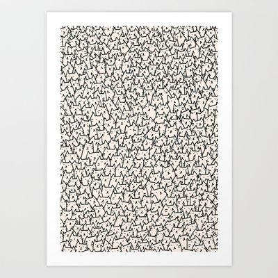 A Lot of Cats Art Print by Kitten Rain - $15.60