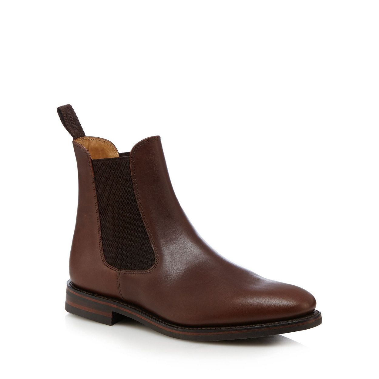 Men's Loake Brown Leather Boots Boots Boots Chelsea 'blenheim' Smart