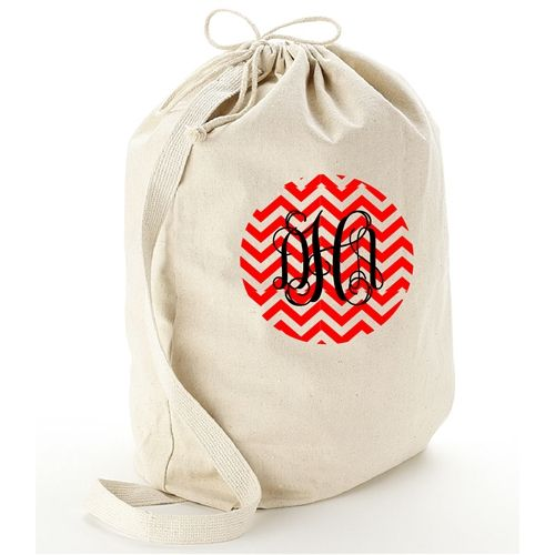 Personalized Large Canvas Laundry Bag Monogrammed Laundry Bags