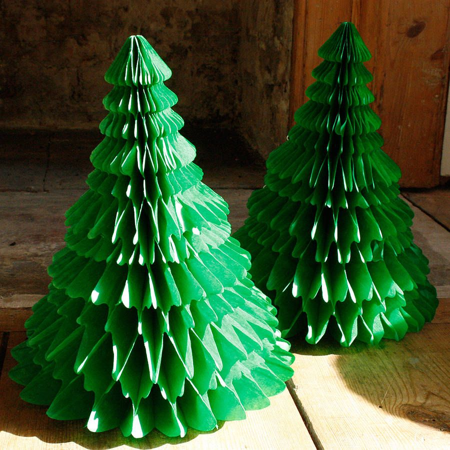 Paper tabletop christmas tree decorations tissue paper christmas