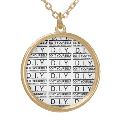 Personalized custom color diy do it yourself gold plated necklace solutioingenieria Images