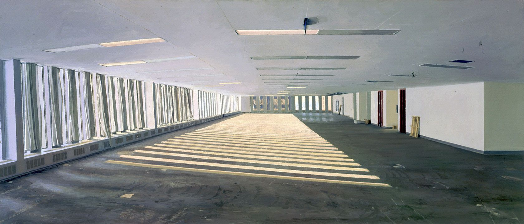 Rackstraw Downes  Untenanted Space in the World Trade Center—Winter Sun, 1998