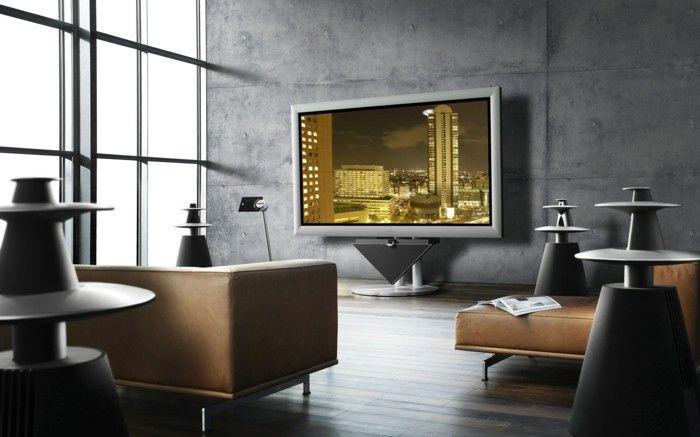 Wandfarben design  Wohnfarben Wandfarben Trends Interior Design Farbe Grau Und Braun ...