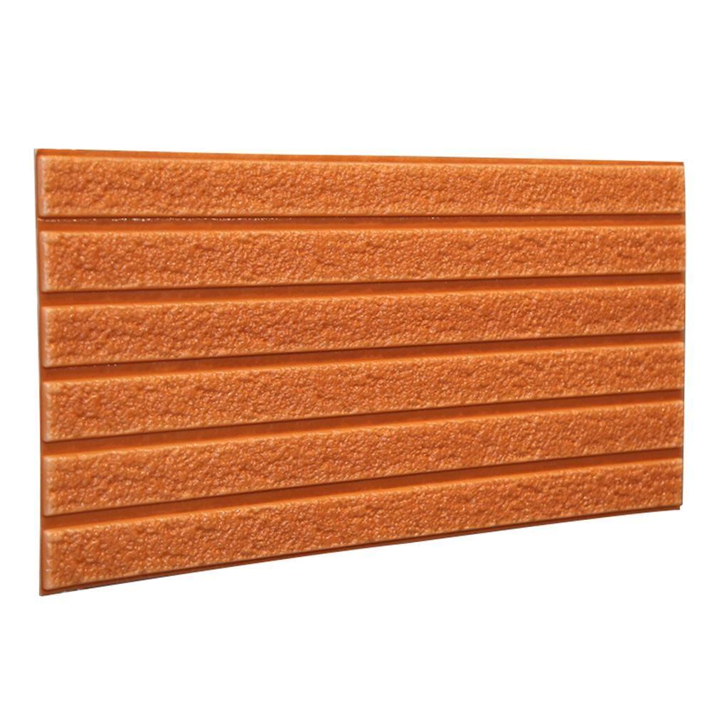 Photo of 3D Stereo Stripe Tile Wall Background Sticker Waterproof Kitchen Bathroom Decor – Orange