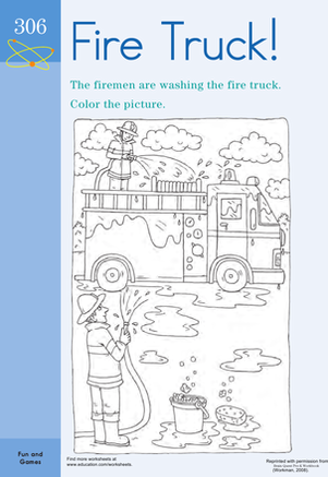 fire engine diagram in color wiring diagram diesel engine diagram color the fire truck! community helpers theme firetruck coloring fire engine diagram