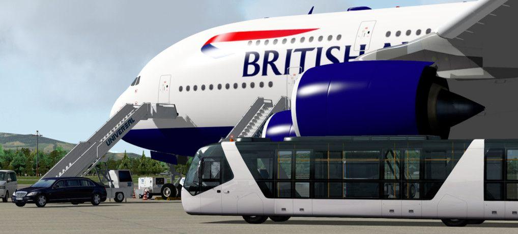 Ground Handling Deluxe Passenger jet, Aircraft, Passenger