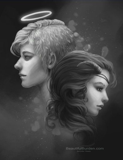 The Angel and the Demon by JenniferHealy on deviantART