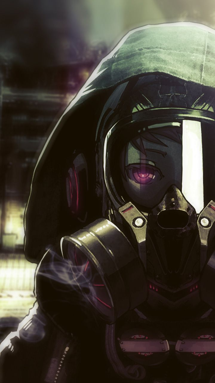 Cyberpunk Phone Wallpaper  Cyberpunk Gas Mask Girl Galaxy S3 Wallpaper…  Anime in 2019  Anime