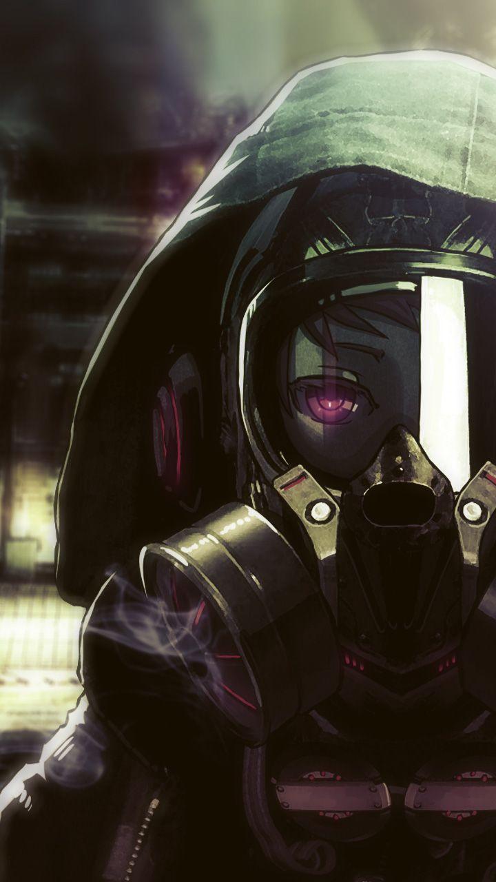 Cyberpunk Phone Wallpaper Cyberpunk Gas Mask Girl Galaxy