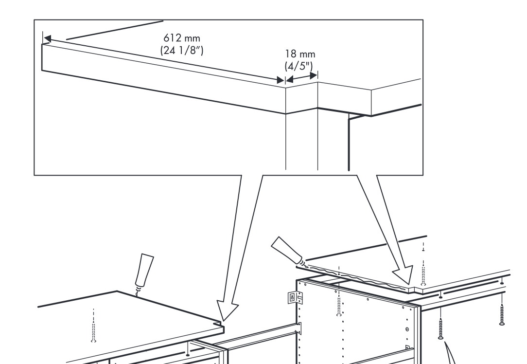 One Project At A Time Diy Blog Installing An Ikea Domsjo Sink In 36 Base Cabinet