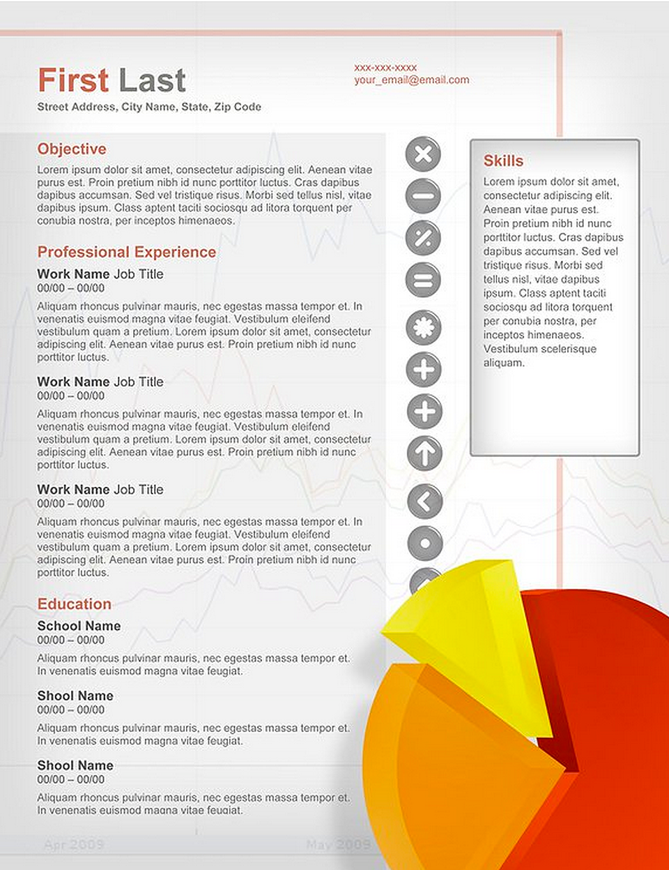 Accounting Resume Template  Creative Resumes For Download