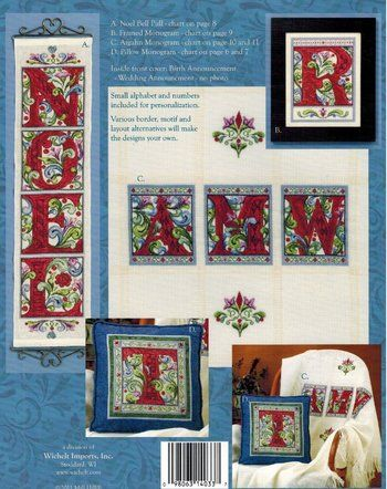 Monograms (Jim Shore) - Cross Stitch Pattern | Cross Stitch Patterns