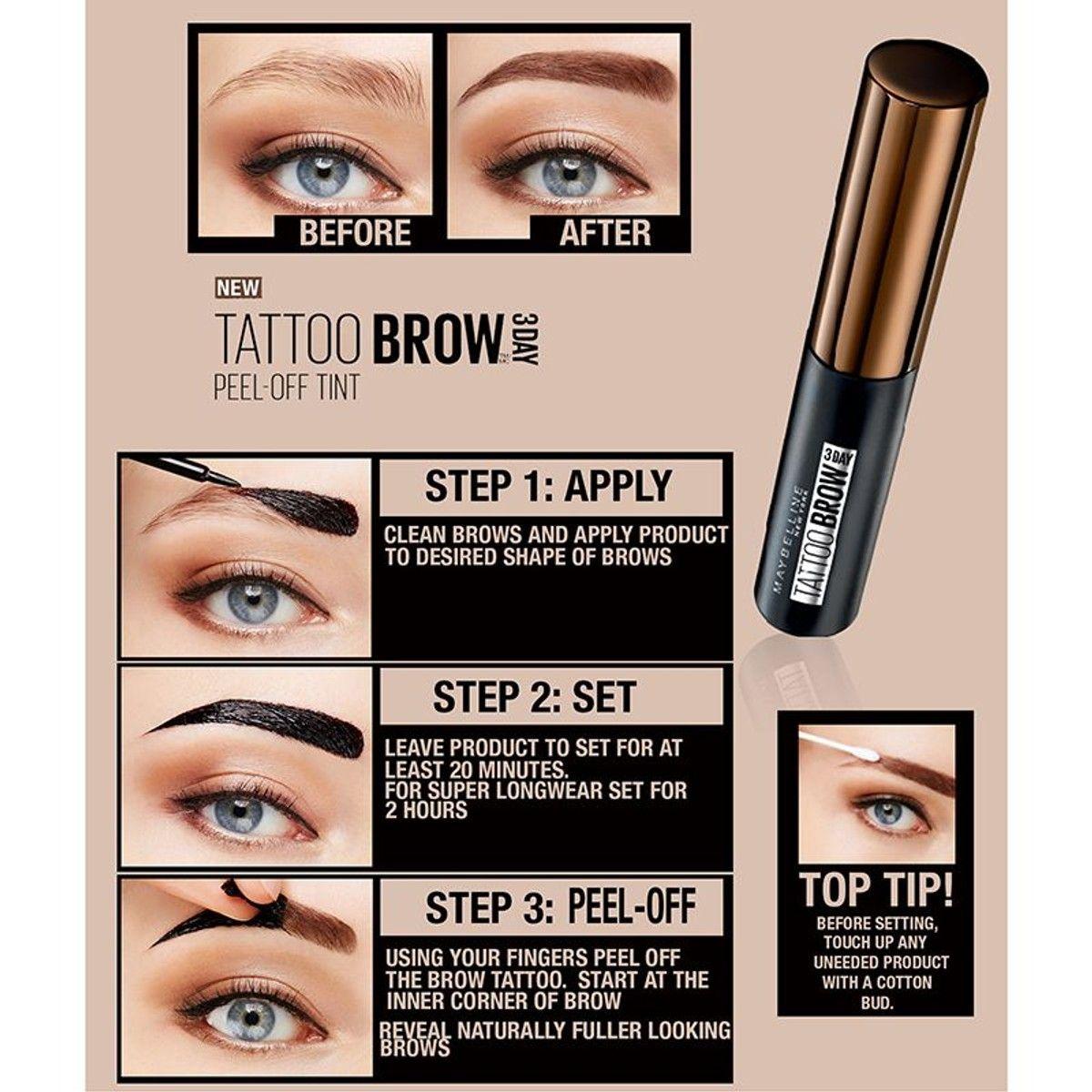 Encre à Sourcils Tattoo Brow PeelOff 4,9ml Maquillaje