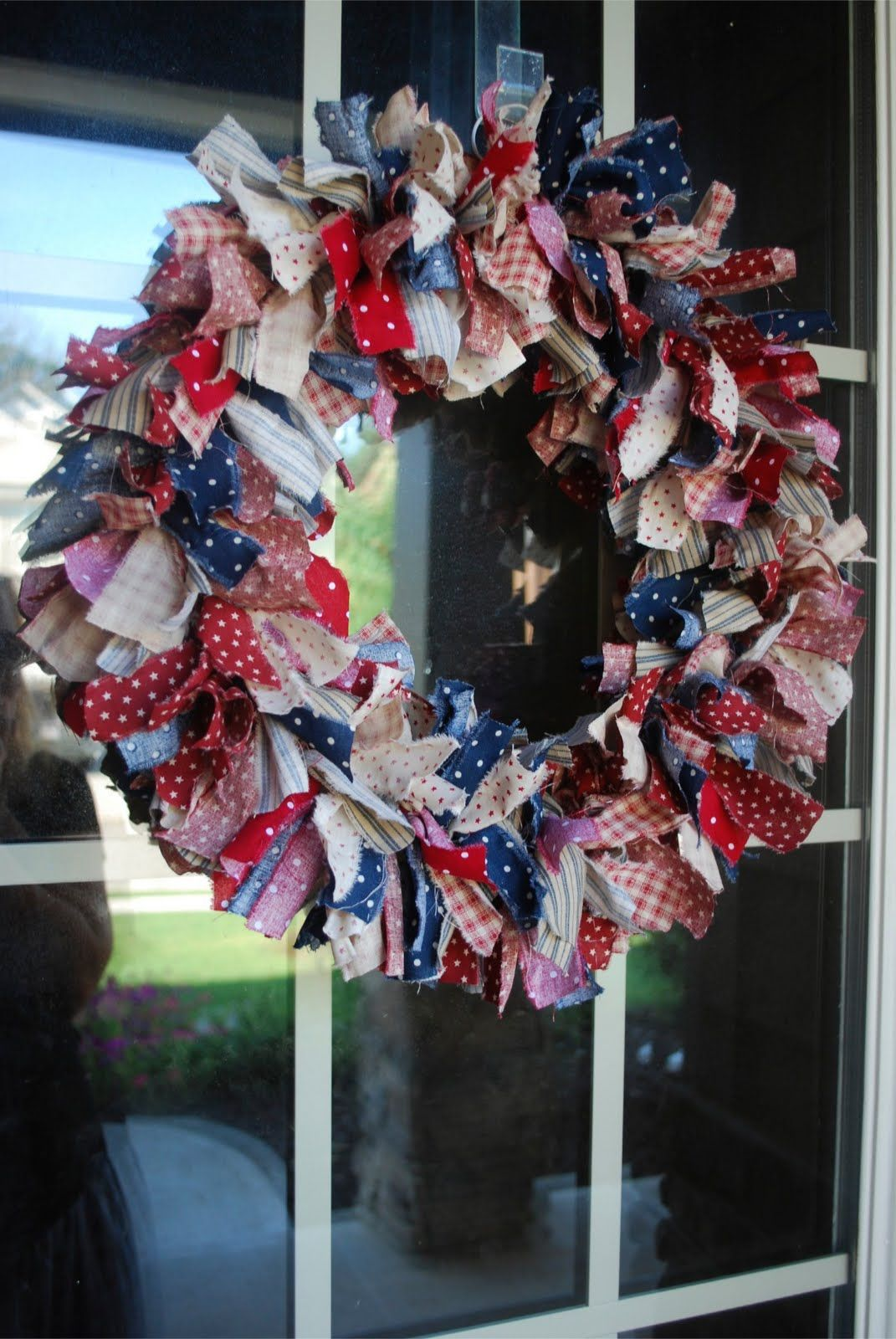 Very Similar To My Very First Rag Wreath They Are So Fun And Easy To Make Rag Wreath